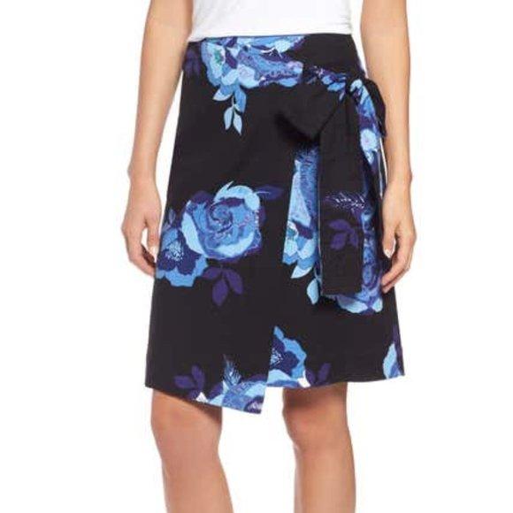 Halogen Floral Wrap Skirt